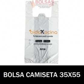BOLSAS DE PLASTICO ASA CAMISETA IMPRESA 35X55 G.70