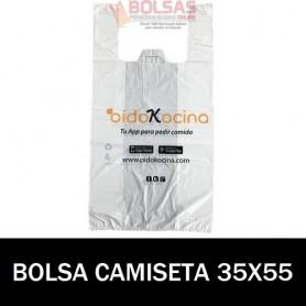 BOLSAS DE PLASTICO PERSONALIZADAS CAMISETA 35X55 6.000 UNIDADES