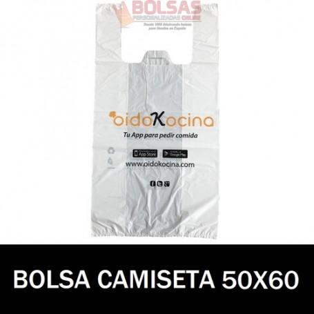 BOLSAS DE PLASTICO PERSONALIZADAS CAMISETA 50X60 5.000 UNIDADES