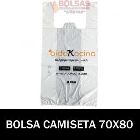 BOLSAS DE PLASTICO ASA CAMISETA IMPRESA 70X80 G.100