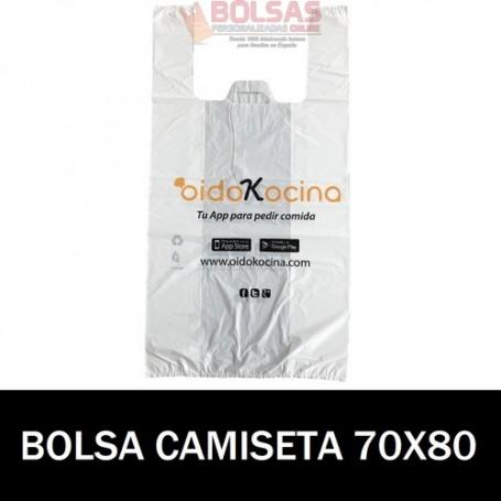 BOLSAS DE PLASTICO PERSONALIZADAS CAMISETA 70X80 3.000 UNIDADES