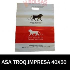 BOLSAS DE PLASTICO ASA TROQUELADA IMPRESAS 40x50