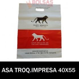 BOLSAS DE PLASTICO ASA TROQUELADA IMPRESAS 40X55