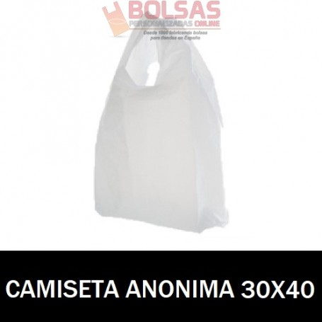 BOLSAS ASA CAMISETA ANÓNIMAS 30X40
