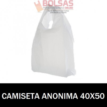 BOLSAS ASA CAMISETA ANÓNIMAS 40X50