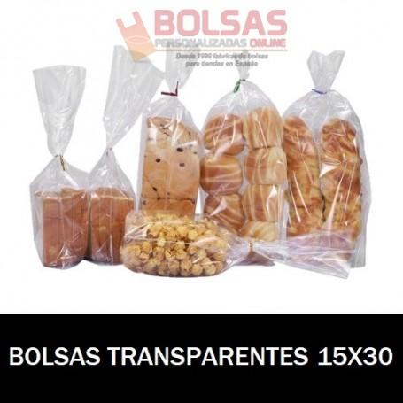 BOLSAS TRANSPARENTES 15X30