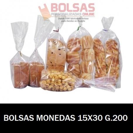 BOLSAS TRANSPARENTES PARA MONEDAS 15X30