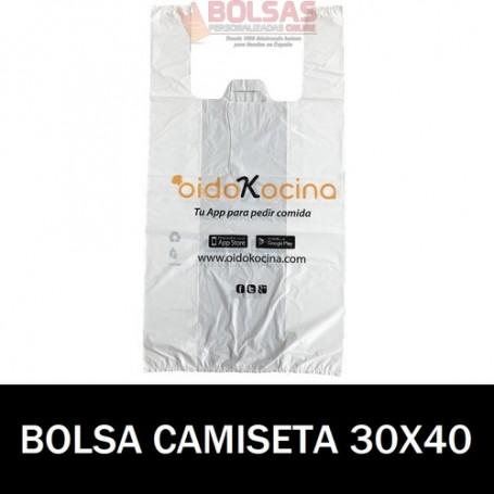 BOLSAS DE PLASTICO PERSONALIZADAS CAMISETA 30X40 10.000 UNIDADES